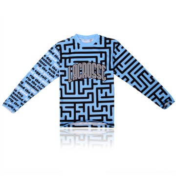 Special for Long Sleeve Lacrosse Jersey Custom long sleeve dry fit jersey lacrosse shirts supply to Denmark Factories