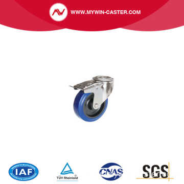 blue elastic rubber stainless steel caster