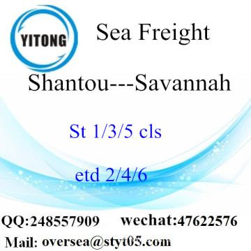 Shantou Port LCL Consolidation To Savannah
