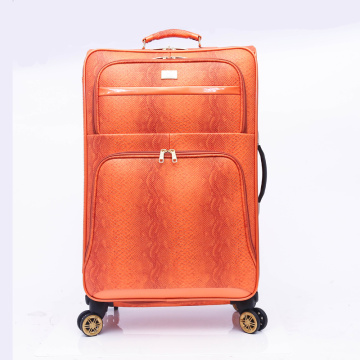 Rolling Expandable 4 wheel carry on PU luggage
