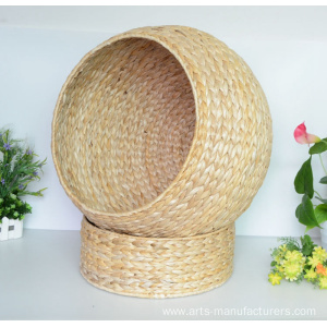 Supply for for Storage Baskets With Lids Rectangular Natural Banan Leaf Cat House supply to Germany Factory