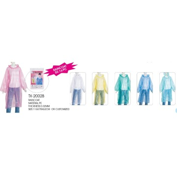 Fashion Sales Disposable Women Waterproof Raincoat