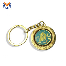 Enamel metal challenge coin keychain  holder