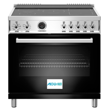 36 inch Induction Range 5 Heating Zones