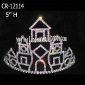 Fashion Girl Tiara Castle Rhinestone Crowns