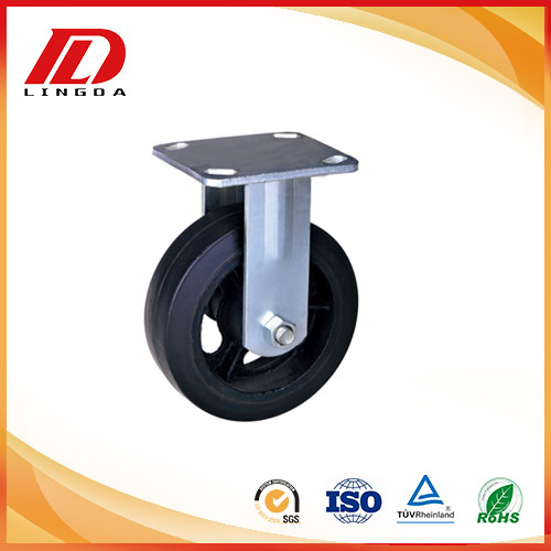 4'' Industrial casters with mold on rubber wheels