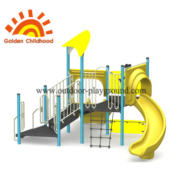 Yellow Ocean Style Outdoor Playground Equipment For Children
