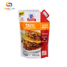 Laminated Aluminum Sauce packaging Bag With Tear Notch