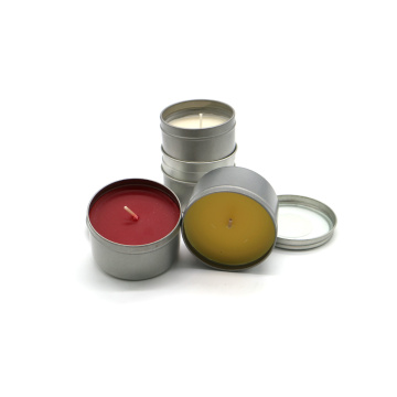 Scented tin box candles for decoration