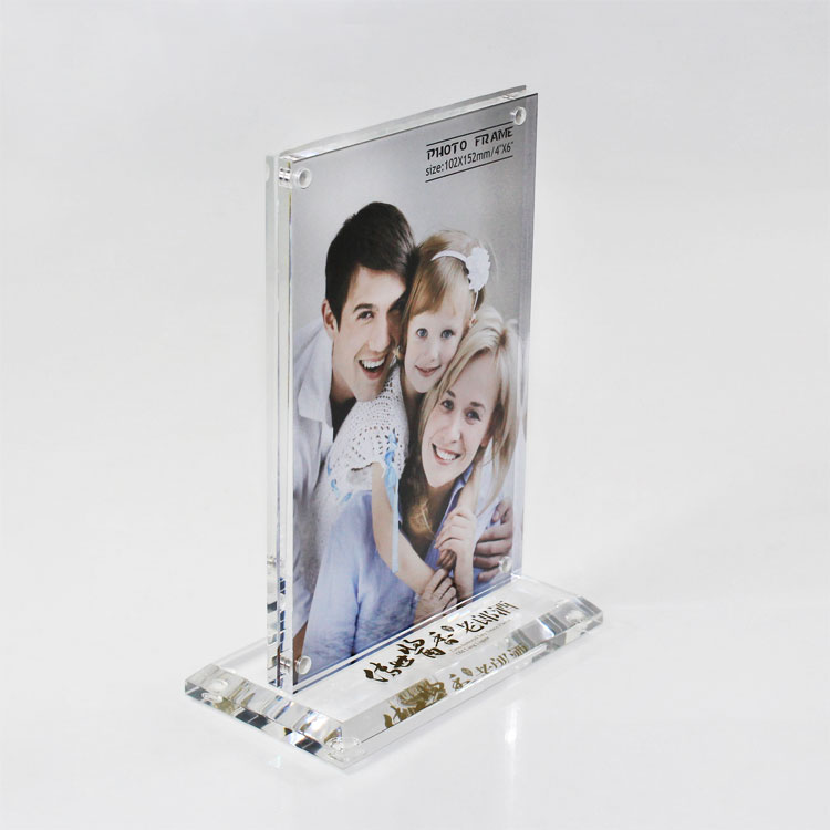 Double Sided Acrylic Self Standing Picture Frames