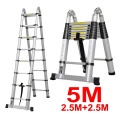 Aluminum Telescopic double sided step ladder