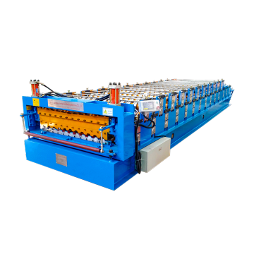 double aluminium trapezoidal roll forming machine