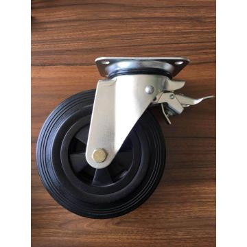 6'' waster bins caster rubber wheel