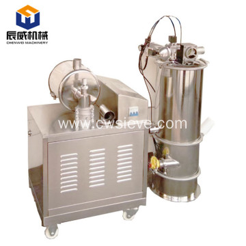 Horizontal vacuum feeder for plastic