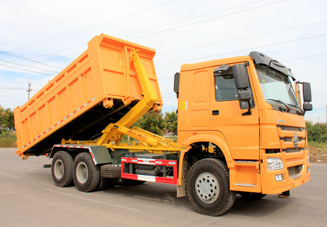 Hook Loader Boom Garbage Truck