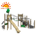 Forest Style Slide Outdoor Playground Equipment For Fun