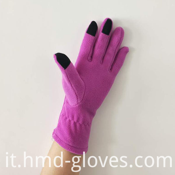 Touch Screen Fleece Gloves For Ladies Palm