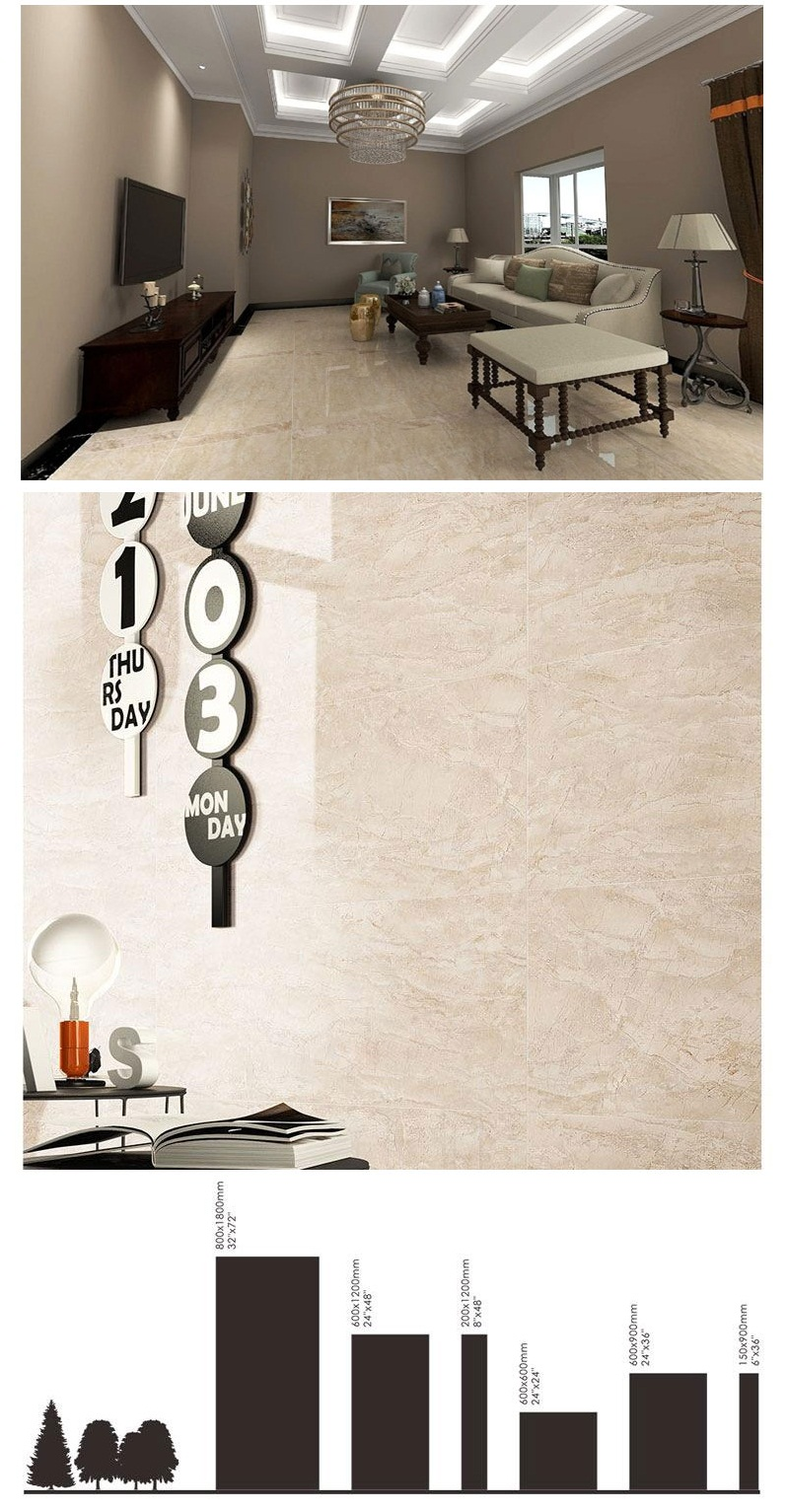 Polished Porcelain Wall Tiles