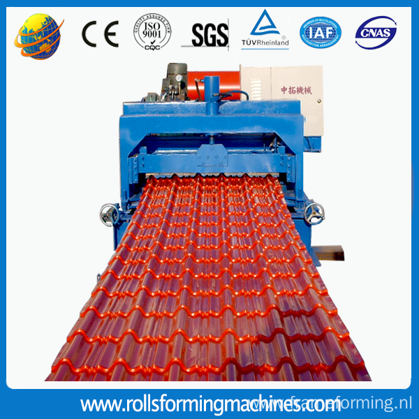 Glazed Tile Roofing Sheet Panel Roll Forming Machine
