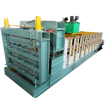 Three layer steel sheet roof sheet forming machine