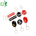 Customized Letter/Number Keyring Silicone Rubber Keychain