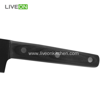 8 Inch Black Kitchen Wooden Chef Knife