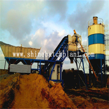 Wet Mobile Concrete Mixer Plant