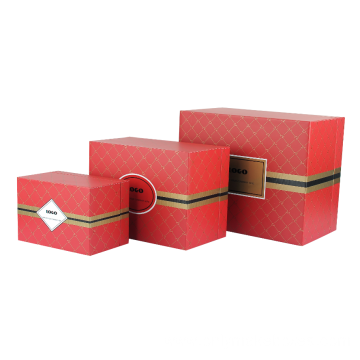 Red Printed Apparel Premium Gift Rigid Box