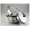 3 Layers Stainless Steel Steamer Pot with Lid