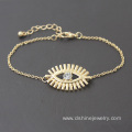 Gold Plated Alloy Chain Bracelet Evil Eye Gold Bracelet