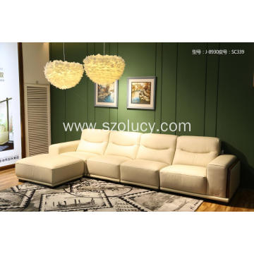 White Leather Sponge sofa
