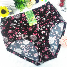 OEM wholesale China cheap black sexy women printed flowers fancy underwear 5671