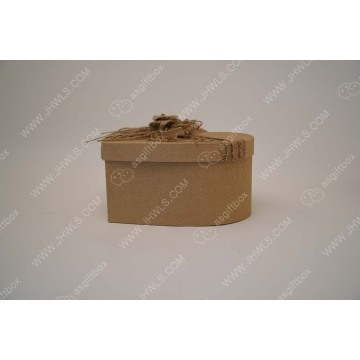 Hand-made shopping box with hemp rope and butterfly knot