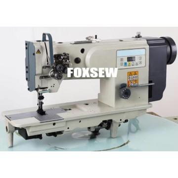 Double Needle Unison Feed Walking Foot Heavy Duty Lockstitch Sewing Machine