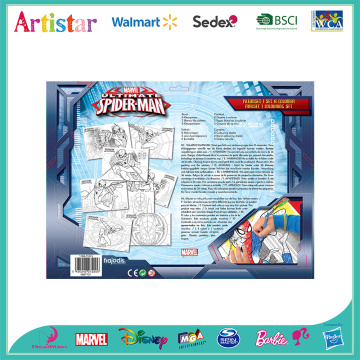 MARVEL SPIDERMAN colouring set