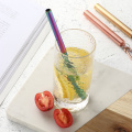 Reusable drinking collapsible straws Set stainless steel