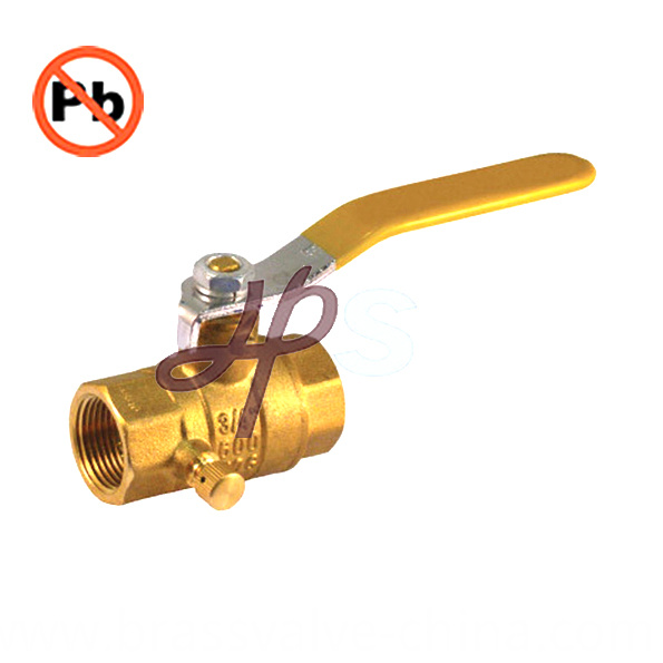 Low Lead Brass Ball Valve With Drain Hps Lf