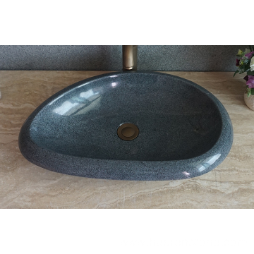 G654 dark grey granite oval sink