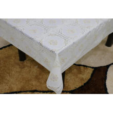 Printed pvc lace tablecloth by roll uses