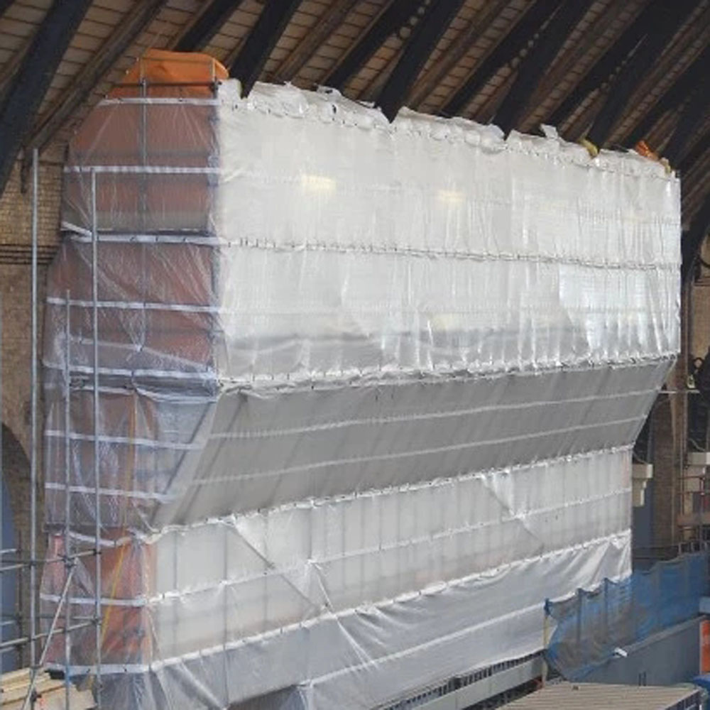 Clear Transparent Leno Scaffolding Covers