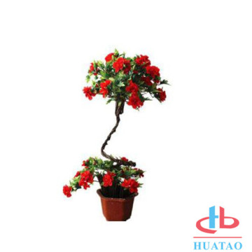 Artificial plant with plastic pot for home decor