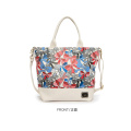 Fashion print canvas handbag