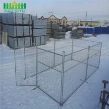 Yellow color mobile construction safety fence for Canada