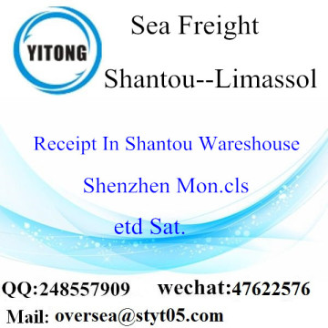 Shantou Port LCL Consolidation To Limassol