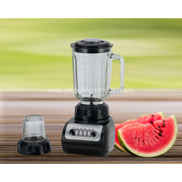 Multifunction smoothie blender with glass jar