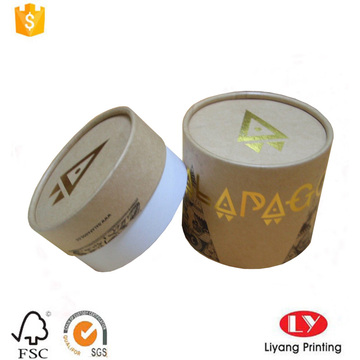 Round kraft paper box with stamping logo
