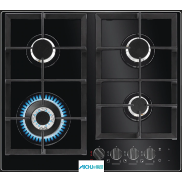 AEG Gas On Glass Hob Built-In 4 Burner