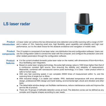 Laser Scanner Sensor for Moving Robot