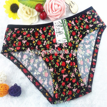 AS-550 OEM China panty manufacturer print bamboo women sexy undergarments branded