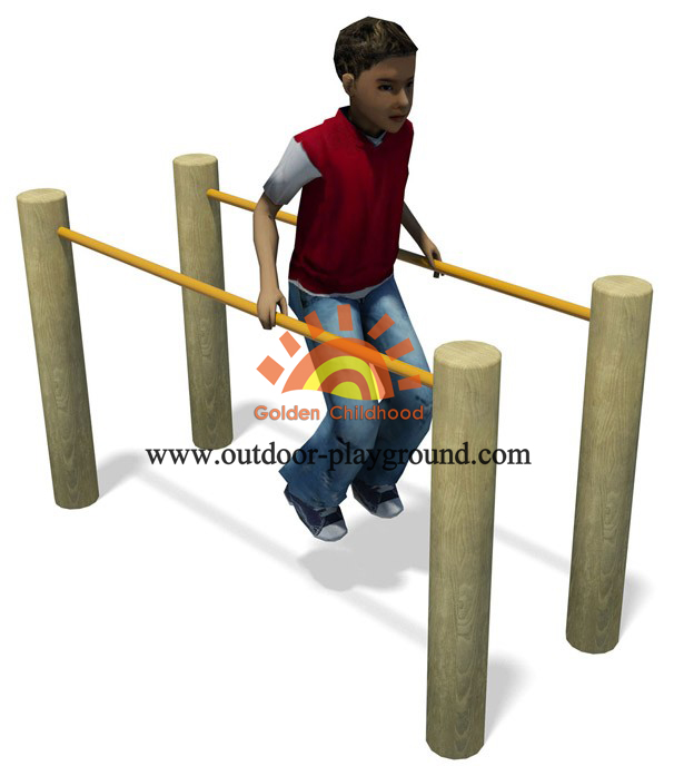 Wooden Parallel Bars Balancing Playground For Kids